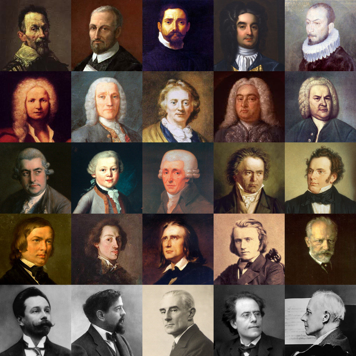 Most famous classical composers